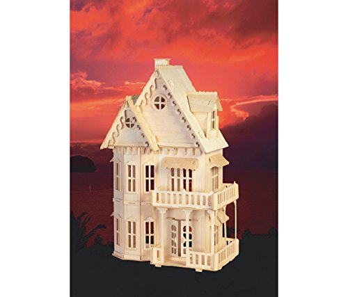 Puzzled Gothic House Wooden 3D Puzzle Construction Kit free shipping vlt hc910lp complete replacement lamp module