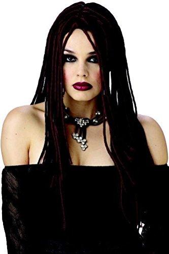 [POPLife Gothic Twists Jamaican Dreadlock Costume Wig] (Witch Wig Stripes)