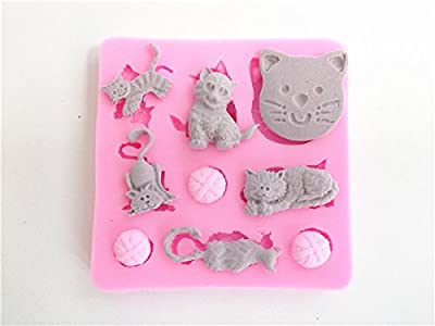 Wocuz W0406 Cats and Clews Candy Making Silicone Mold Cake Decoration Mould Fondant Chocolate Small Pastry Tool