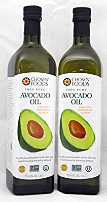 Chosen Foods 100% Pure Hand-crafted Avocado Oil (33.8-oz Bottle) Pack of 2 by Chosen Foods