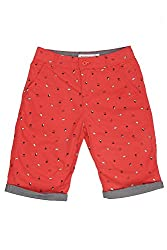 Poppers by Pantaloons Boy's Cotton Shorts (205000005616572, Red, 7-8 Years)