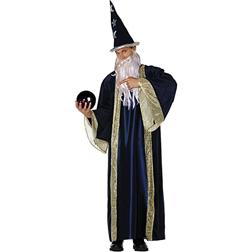 Blue Wizard Deluxe Adult Costume - Standard