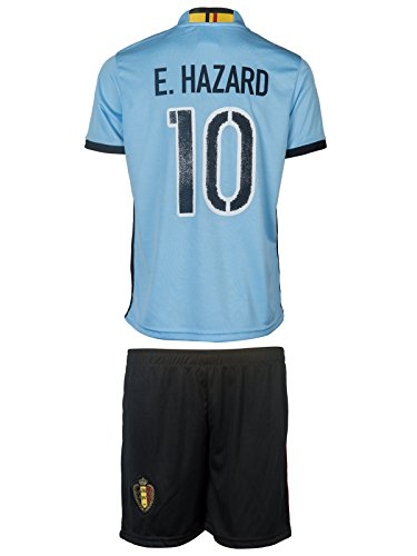 NEW! - Belgium UEFA Euro 2016 #10 Hazard Away Soccer Kids Jersey & Shorts - Youth Size - XS - (2-3 Ages)