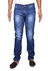 John Wills Men's Slim Fit Jeans (MCR1046, Blue, 32)