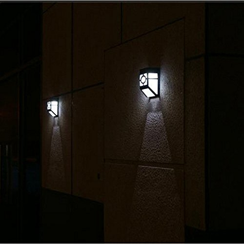 Wall Mounted Accent Lights : [Upgrade Slope Top]Falove 2-LED Mission-Style Solar Deck Accent Lights Wall Mount Solar LED ...