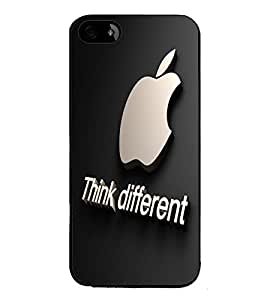 Fuson Premium 2D Back Case Cover Think different With Brown Background Degined For Apple iPhone 4::Apple iPhone 4S