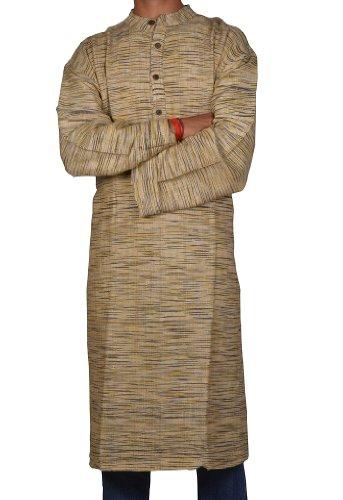 Casual Wear Indian Khadi Mens Long Kurta Fabric For Winter & Summers Size 5XL