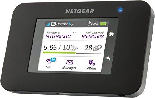 Netgear AC790-100EUS Router Mobile 4G LTE fino a 300 Mbps, WiFi Hotspot Dual Band AC, Touchscreen, Funzione di Caricabatteria Portatile,...