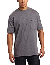 RIGGS WORKWEAR by Wrangler Men's Pocket T-Shirt, Charcoal Gray, Large