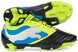 Powercat 3 FG Football Boots Black/Fluo Yellow/Brilliant Blue