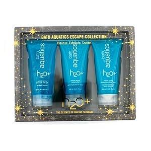 H2O+ Bath Aquatics Escape Collection: Bath Gel 180ml + Body Buffer 180ml + Body Balm 180ml - 3pcs
