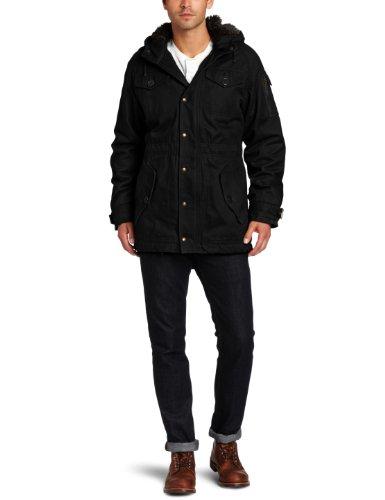 Spiewak Men's Samuel Fishtail Parka Jacket, Black, Medium