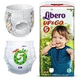 Libero Up & Go 5-10A 14kg-Paquete de 22Paños Culottes