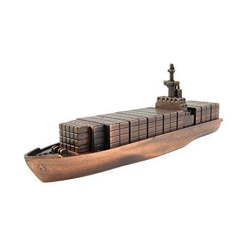 Bronze Metal Container Cargo Ship Replica Die Cast Novelty Toy Pencil Sharpener (Cargo Ship Model compare prices)