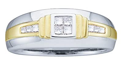 DIAMOND BAND 0.33CTW DIAMOND MENS FASHION BAND M62009/W Size O