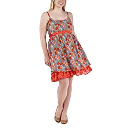 Product Image Juniors' Plus-Size Pure Energy® Orange Sleeveless  Empire Dress - 2