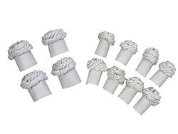 Regency Chop Frills Decorative Holders for Chops and Chicken Legs, 4 Chicken Frills and 8 Chops Frills