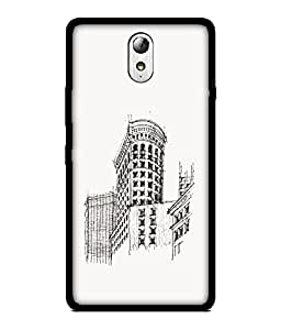 Chnno 2d abstract Printed Back Cover For Lenovo Vibe P1M No- 1042