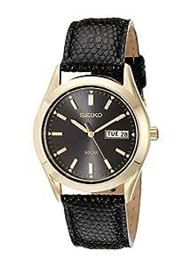 Seiko Men's SNE054 Stainless Steel Solar Watch