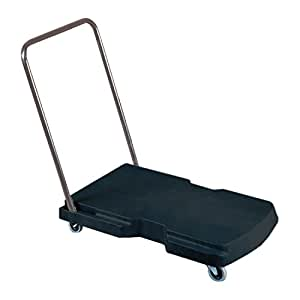 Rubbermaid Commercial Utility-Duty Home/Office Cart, 250 lb Capacity, 20-7/8 x 31-3/4 Platform, Black (440000)