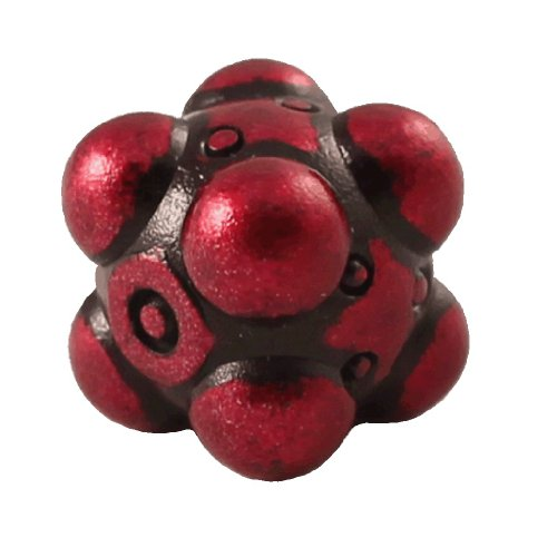 1 (One) Single IronDie: Solid Metal Italian Dice - Red Nullifier (Die-Cast Designer Six-Sided Die / d6) - 1