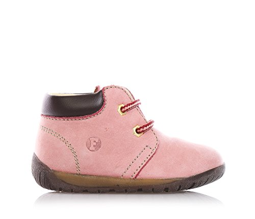 Naturino - Falcotto - Scarpa rosa stringata, in camoscio, gattonamento ed il primo passo, Bambina-24