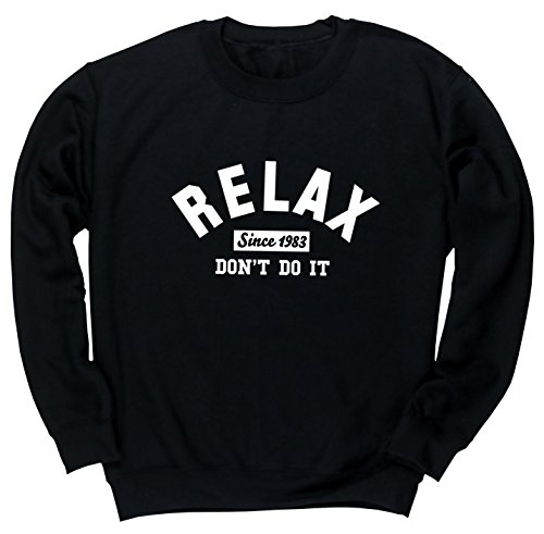 HippoWarehouse relax since 1983 don't do it unisex jumper sweatshirt