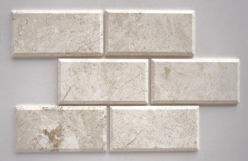 quality beveled subway tile   Affordable Diana Royal Marble 4X8 Deep Beveled Honed ...