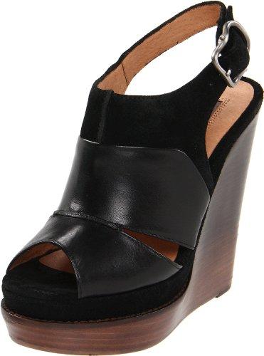 Modern Vintage Women'S Liana Wedge Sandal, Black/Black, 9.5 M Us front-994481