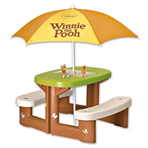 table picnic parasol winnie de smoby. Black Bedroom Furniture Sets. Home Design Ideas