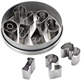 Cake Boss Decorating Tools 9-Piece Stainless Steel Number Fondant and Cookie Cutter Set