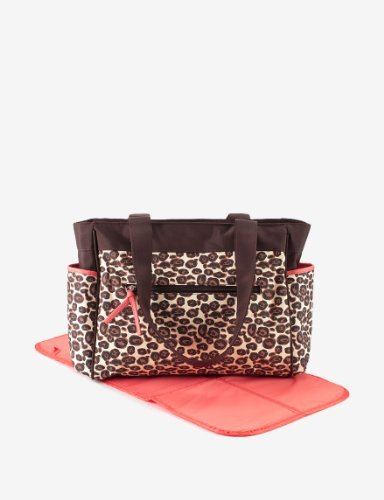 Baby Essentials 2 Pc. Diaper Bag Set - Leopard Brown