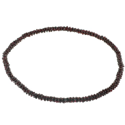 Garnet Chip Cluster Necklace - 9-10mm in Thickness, 27