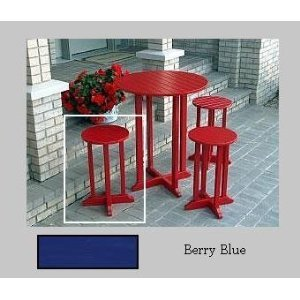 Prairie Leisure Design Round Cocktail Stool - Berry Blue
