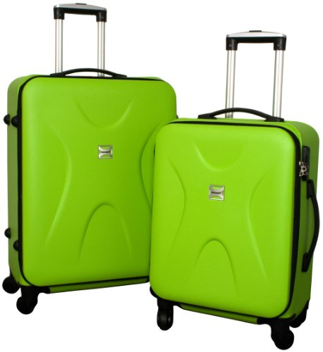 Trolley-Koffer-Set - 2-teilig - GRÜN - Superleicht