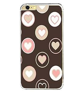 Printvisa Hearts 2D Hard Polycarbonate Designer Back Case Cover For Apple Iphone 6
