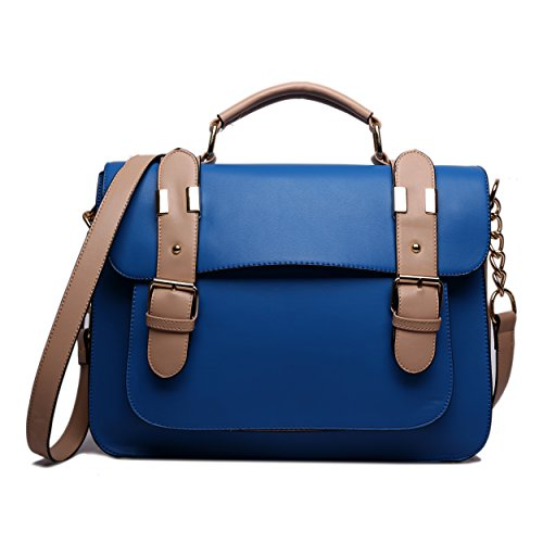 Miss Lulu Faux Leather Satchel Shoulder School