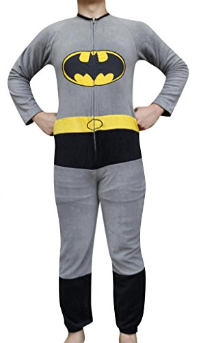 Batman The Dark Knight Costume Warm Pajamas Sleepwear Jumpsuits - Multicolour