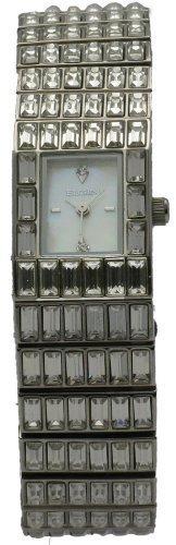 時計 Elgin エルジン Women's Stainless Steel Band Genuine Austrian Crystals Analog Mother Of Pearl Dial Watch EG518 ウィメンズ レディース 女性用 [並行輸入品]