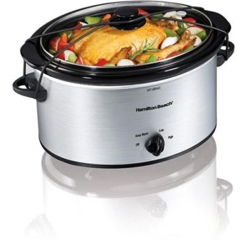 5-Quart Portable Slow Cooker Silver Crockpot Manual New (Crock Pot 5 Qt compare prices)