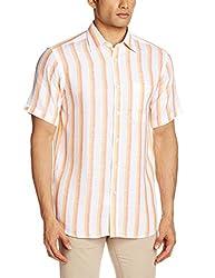 Raymond Men's Linen Casual Shirt  (8907249268074_RCSY00611-E4_Orange_39)