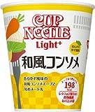 日清カップヌードル ライトプラス 和風コンソメ 53g 1ケース(12食入)