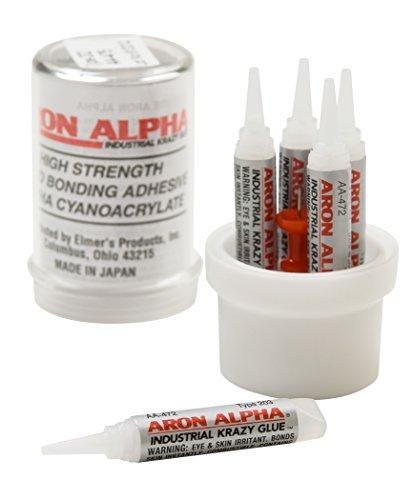 Aron Alpha Type 203 (1,500 cps viscosity) Slow Set Instant Adhesive, 10 g Capsule, 5 Tubes x 2 g (0.07 oz)