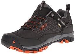 KEEN Men\'s Saltzman WP Outdoor Shoe, Raven/Koi, 9.5 M US