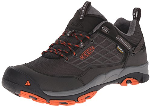 KEEN Men's Saltzman WP Outdoor Shoe, Raven/Koi, 11 M US