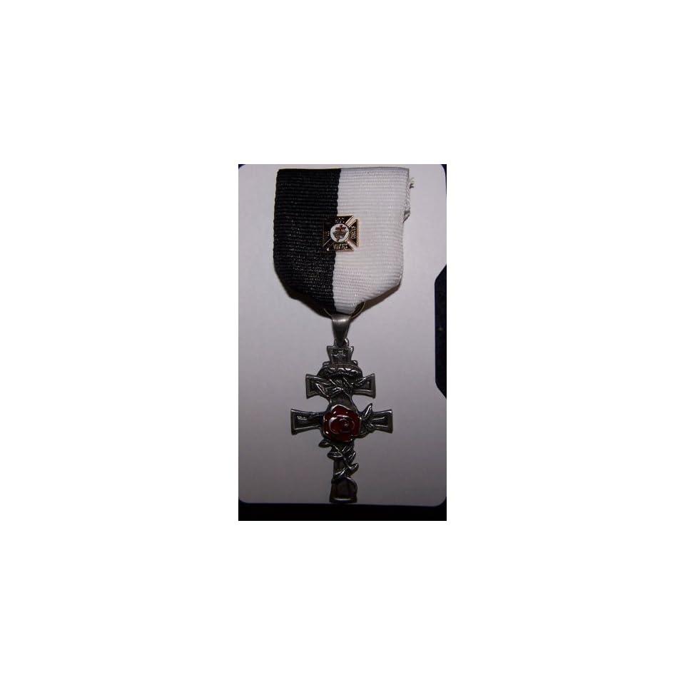 Medieval Crusades Masonic Knight Templar Holy Land Rosy Cross Medal War