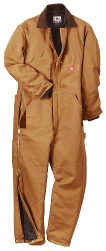 41b36ivgTkL Dickies Mens Insulated Coverall, Brown Duck, Large Regular TOP PRICE