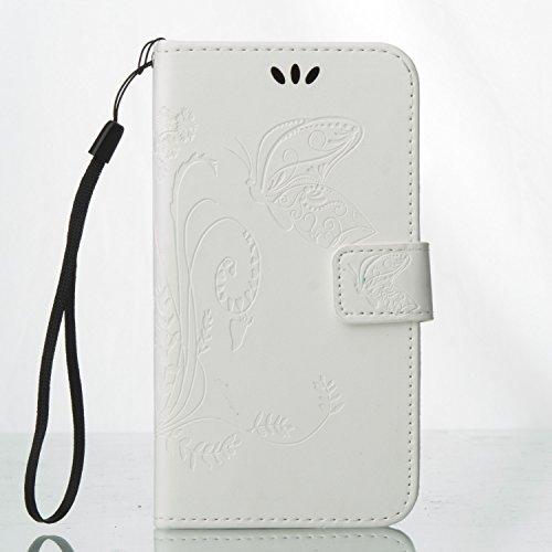 Samsung-J3-PRO-Hlle-Samsung-J3-PRO-Case-BONROY-Schmetterling-Blume-Prgung-Muster-PU-Lederhlle-Wallet-Case-Flip-Hlle-im-Bookstyle-Cover-Schale-Stand-Stnder-Etui-Karten-Slot-Schutzhlle-Tasche-fr-Samsung