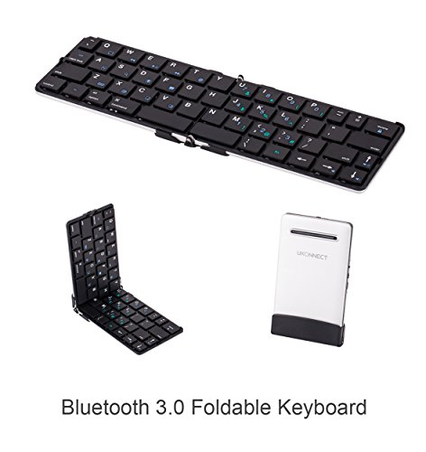 Ukonnect Ultra-compact Portable Fold-able Bluetooth Keyboard