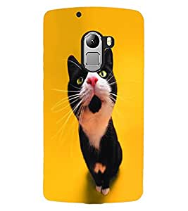 ColourCraft Cute Cat Design Back Case Cover for LENOVO VIBE X3 LITE
